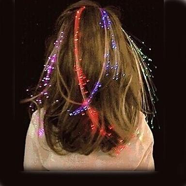 levou aglimmer brilhante flash de cabelo trança partido novidade decoração festivel