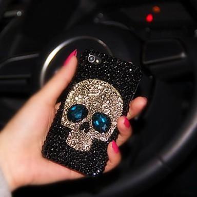 senhora do estilo crânio com moldura de diamante para iphone 6 mais