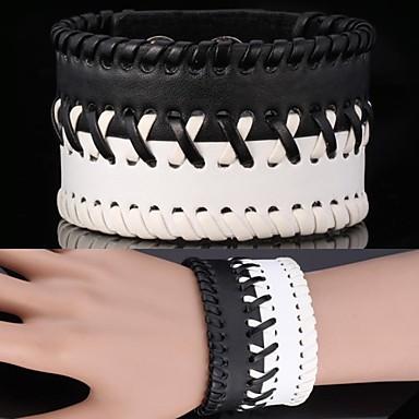 u7® pulseira do vintage pulseira de couro genuíno 3 tamanhos pulseira ajustável para homens \ mulheres jóias