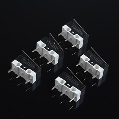 ποντίκι μικροδιακόπτη 1α 125V εξαιρετικά μικρό, υψηλής ποιότητας μικροδιακόπτη επαφές ασήμι ποντίκι (5pcs)