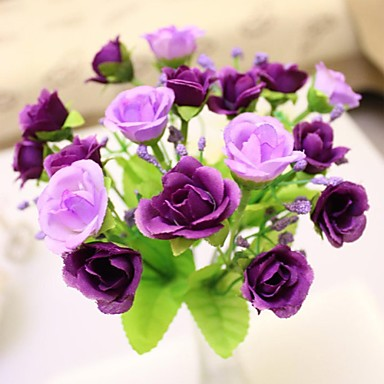 Une succursale soie plastique roses fleur de table fleurs for Livrer une rose