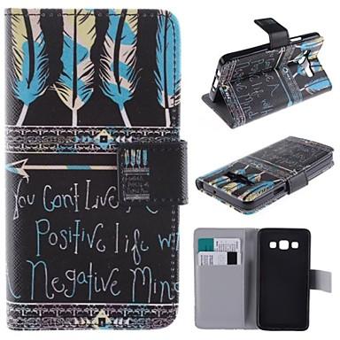 Για Samsung Galaxy Θήκη Θήκη καρτών / με βάση στήριξης / Ανοιγόμενη / Με σχέδια / Μαγνητική tok Πλήρης κάλυψη tok Λέξη / ΦράσηΣυνθετικό