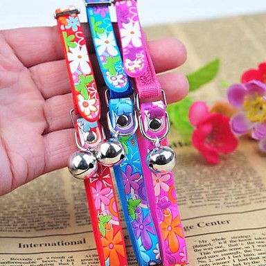 Katzen / Hunde Halsbänder Regolabile/Einziehbar / Blume Rot / Blau / Purpur PU Leder