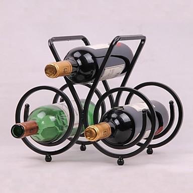 vintage design staal wijnrek houder bar flessenplank bar decor scherm