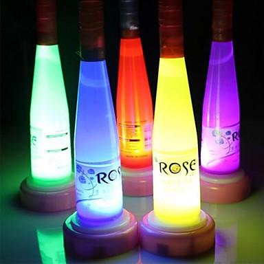 borosüveg LED éjszakai fény lámpa (véletlenszerű szín)