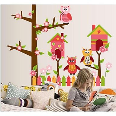parede coruja dos desenhos animados casa adesivos
