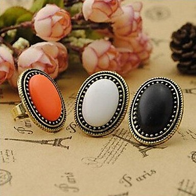 Women's Statement Ring - Alloy Vintage, Fashion, Elegant One Size White / Black / Orange For Party Daily Casual