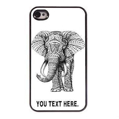 caz elefant caz personalizate de metal de design pentru iPhone 4 / 4s