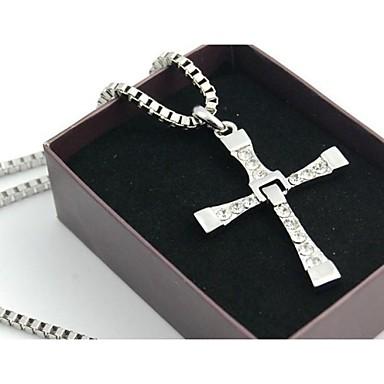 Heren Dames Kruis Movie Jewelry Hangertjes ketting Legering Hangertjes ketting ,