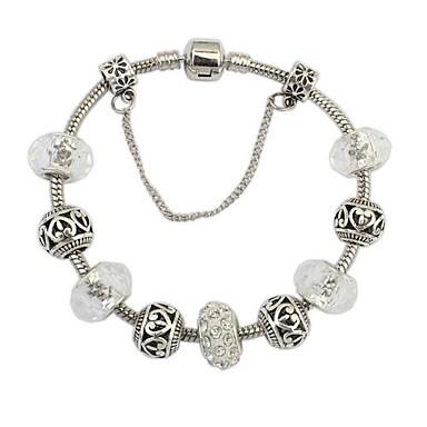 Damen Bettelarmbänder - Harz, Strass Europäisch, Modisch Armbänder Weiß / Silber Für Alltag