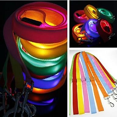 Hunde Leinen LED-Lampen / Regolabile/Einziehbar Rot / Grün / Blau / Rosa / Gelb / Orange Nylon