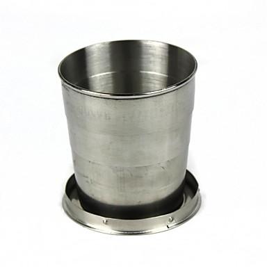 copo Único Portátil Aço Inoxidável Ao ar livre para Acampar e Caminhar