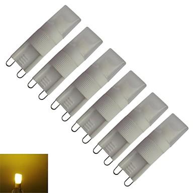 6pcs 210-270 lm G9 LED Λάμπες Καλαμπόκι T leds Θερμό Λευκό AC 85-265V