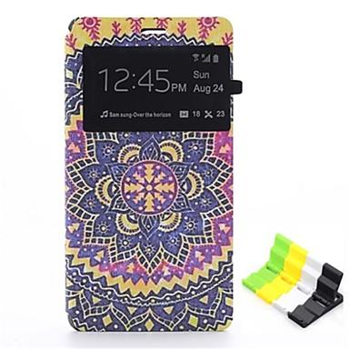 teste padrão de flor de couro pu caso de corpo inteiro e titular do telefone para sony xperia z3 z3 compacto Mini /
