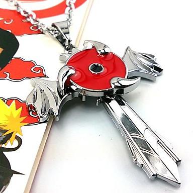 Jóias Inspirado por Naruto Fantasias Anime Acessórios de Cosplay Colares Vermelho / Prateado Liga Masculino