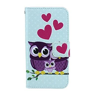 uil patroon 4,3 inch pu portemonnee lederen case voor de Samsung Galaxy kern plus G3500