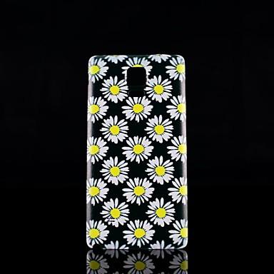 Voor Samsung Galaxy Note Patroon hoesje Achterkantje hoesje Bloem PC Samsung Note 4