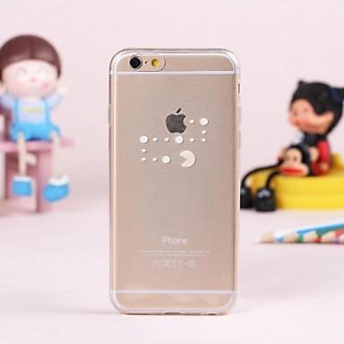 Για Θήκη iPhone 6 / Θήκη iPhone 6 Plus Διαφανής tok Πίσω Κάλυμμα tok Παίζοντας με το λογότυπο της Apple Μαλακή TPUiPhone 6s Plus/6 Plus /