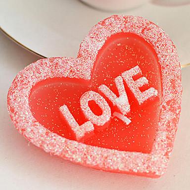 roze romantische hartvormige minnaar kaars