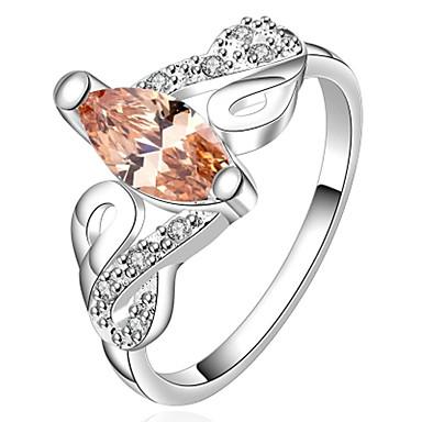 Κρίκοι Γάμου / Πάρτι / Καθημερινά / Causal / Αθλητικά Κοσμήματα Επάργυρο Γυναικεία Εντυπωσιακά Δαχτυλίδια7 / 8 Ασημί