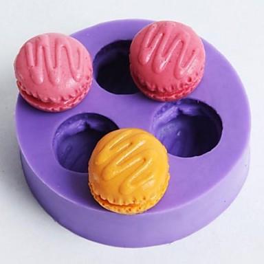 Bakeware araçları Silikon Kauçuk Çevre-dostu Yapışmaz Kek Kurabiye Çikolota Pişirme Kalıp 1pc