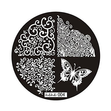 καρφί τέχνης σφραγίδα σφράγιση εικόνα του προτύπου πλάκα σειρά χεχε No.4
