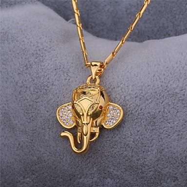 Kübik Zirconia Uçlu Kolyeler / Kolye - Zirkon, Kübik Zirconia Fil, Hayvan Vintage, Parti, İş Sevimli Altın, Gümüş Kolyeler Mücevher Uyumluluk