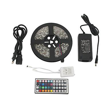 z®zdm waterdichte 5m 300x5050 SMD RGB LED strip licht met 44-knop afstandsbediening (100-240 V)
