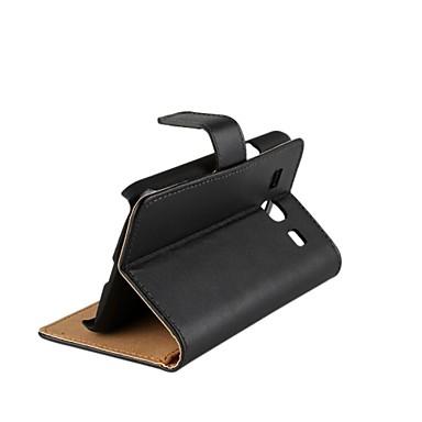 Para Samsung Galaxy Capinhas Porta-Cartão / Com Suporte / Flip Capinha Corpo Inteiro Capinha Cor Única Couro PU Samsung Core Plus