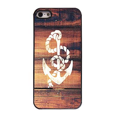 Pouzdro Uyumluluk iPhone 5 Apple iPhone 5 Kılıf Temalı Arka Kapak çapa Sert PC için iPhone SE/5s iPhone 5