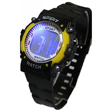 Dames Kwarts Digitaal Digitaal horloge Polshorloge Hot Sale Rubber Band Cartoon Zwart