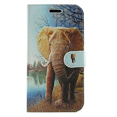 Para Samsung Galaxy Capinhas Carteira / Porta-Cartão / Com Suporte / Flip / Estampada Capinha Corpo Inteiro Capinha Elefante Couro PU