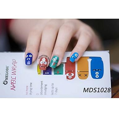 14pcs cartoon warme kleur nail art stickers mds1028