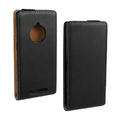 coco fun® ultra solide echte flip lederen tas met film en usb-kabel en stylus voor de Nokia Lumia 830