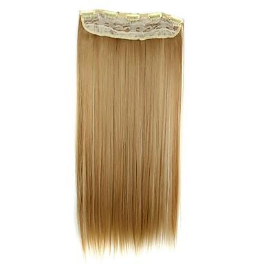 Ek saç Klasik Klips İçeri / Dışarı Günlük Yüksek kalite Gerçek Saç Postişleri