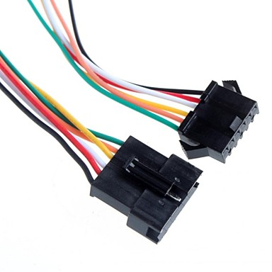 diy 2.54mm 6p mannelijk en vrouwelijk aderige kabel