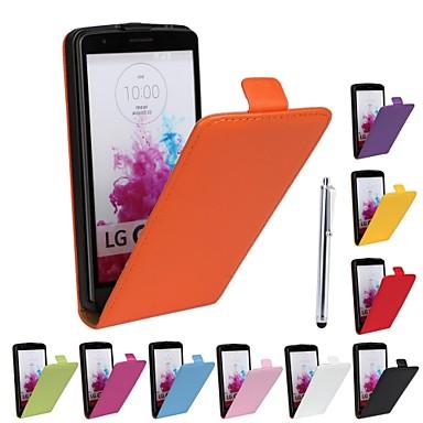 Hülle Für LG LG Hülle Stoßresistent Handyhülle für das ganze Handy Volltonfarbe Hart Kunst-Leder für LG G3 Other