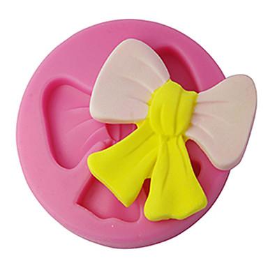 four-c silicone cupcake schimmel strik fondant en sugarpaste schimmel, taart decoreren gereedschappen levert kleur roze