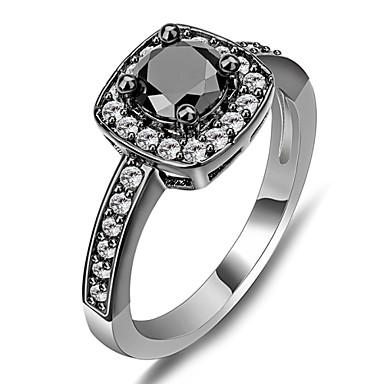 Feminino Maxi anel Sapphire sintético Pedras preciosas sintéticas Zircão Jóias Para Casamento Festa Diário Casual Esportes