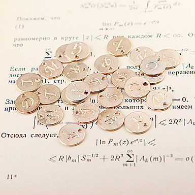 DIY μόδας επιστολή χρυσό κράμα pandent (1 τεμ)