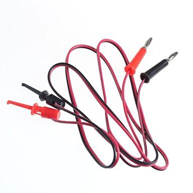 test lijn / banaanstekkers draai-test haak / 2 stekker hook turn 2 (1 m kabellengte)