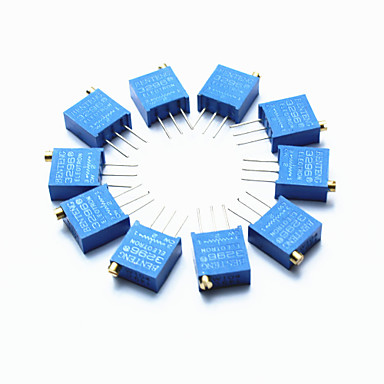 3296 yüksek hassasiyetli 104 100k ohm değişken direnç potansiyometre düzelticiler - mavi (10 adet)