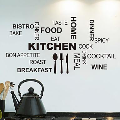 αυτοκόλλητα τοίχου αυτοκόλλητα τοίχου, κουζίνα αγγλικές λέξεις& αναφέρει αυτοκόλλητα PVC τοίχο