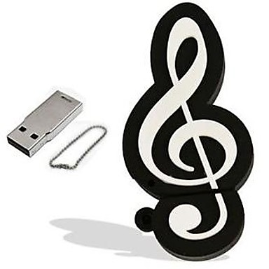 만화 음표 모델 8 기가 바이트 USB 2.0 플래시 펜 드라이브 메모리 스틱 pendrive
