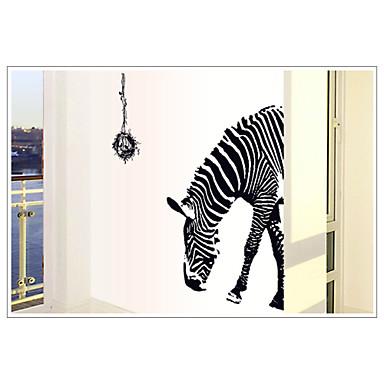 mode milieu-verwijderbare zebrapatroon pvc muursticker