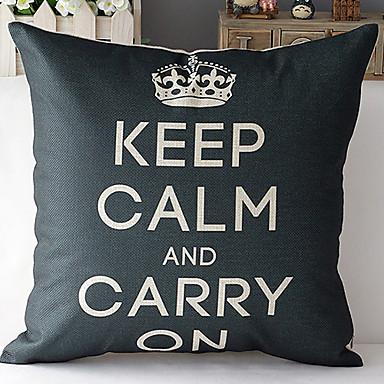 estilo moderno coroa preto modelado algodão / linho cobertura decorativa travesseiro