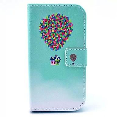 Para Samsung Galaxy Capinhas Carteira / Porta-Cartão / Com Suporte / Flip / Estampada Capinha Corpo Inteiro Capinha Balões Couro PU