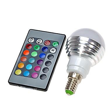 E14 Lâmpada Redonda LED leds Controle Remoto RGB 300 AC 100-240V