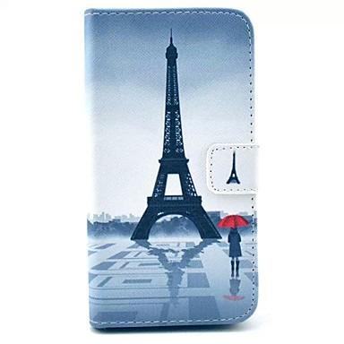 Pouzdro Uyumluluk Diğer / Huawei Huawei Kılıf Cüzdan / Kart Tutucu / Satandlı Tam Kaplama Kılıf Eiffel Kulesi Sert PU Deri için Other / Huawei