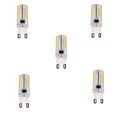 YWXLIGHT® 5pçs 450 lm G9 Lâmpadas Espiga T 80 leds SMD 3014 Regulável Branco Quente Branco Frio AC 220-240V